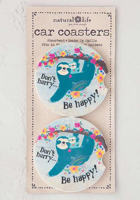 Car Coaster Set - Don't Hurry Sloth