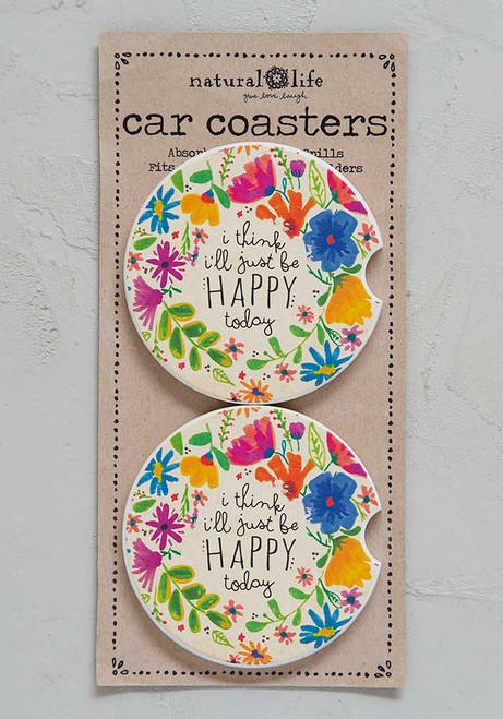 Car Coaster Set - Happy Today