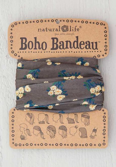 Boho Bandeau Headband - Cocoa Daisies