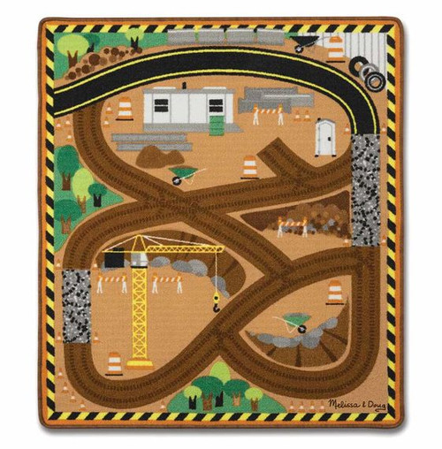 Round the Construction Zone Rug Set