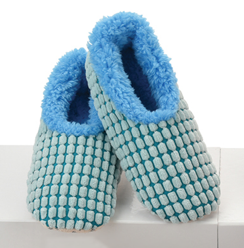 Chenille Squares Snoozies - Blue