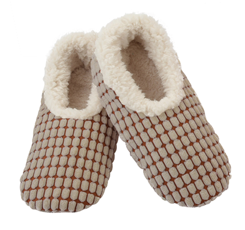 Chenille Squares Snoozies - Tan