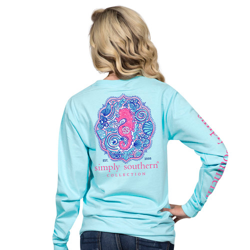 Simply Southern LS Tee - Seahorse