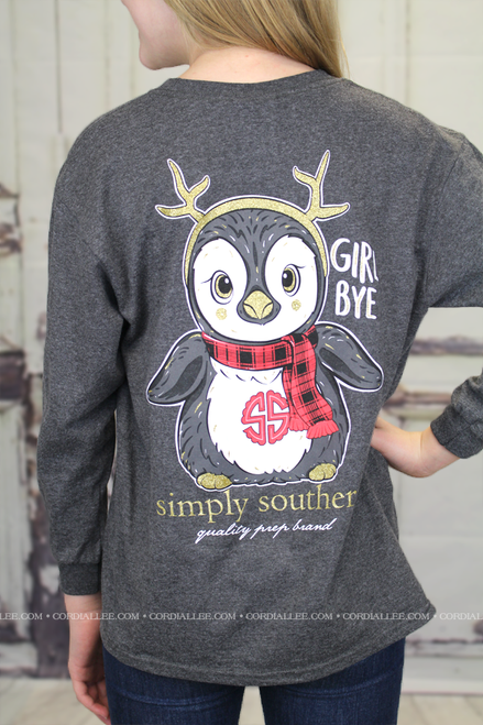 Simply Southern LS Tee - Penguin
