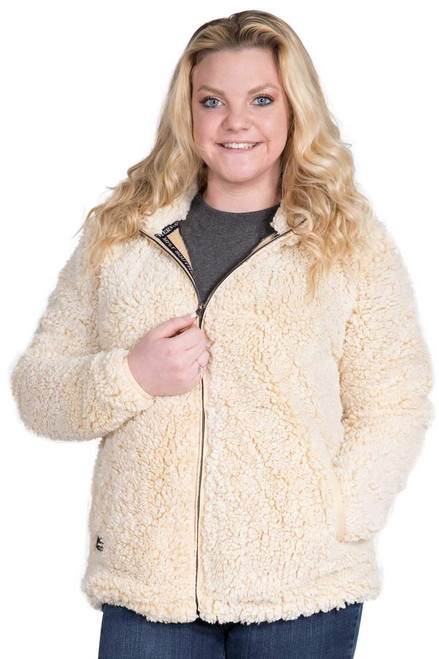 Simply Southern Sherpa Jacket - Cream