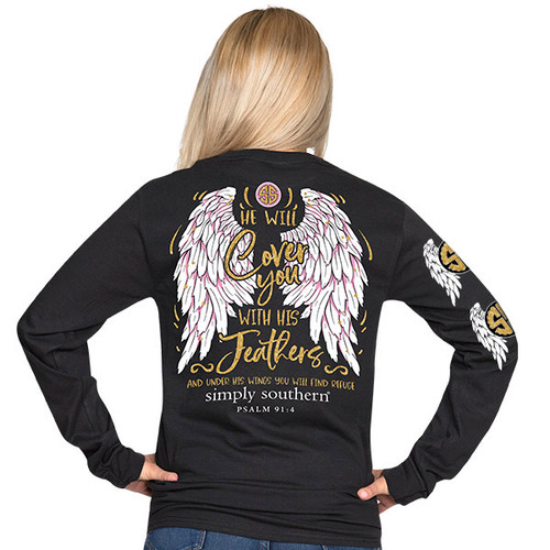 Simply Southern LS Tee - Feathers
