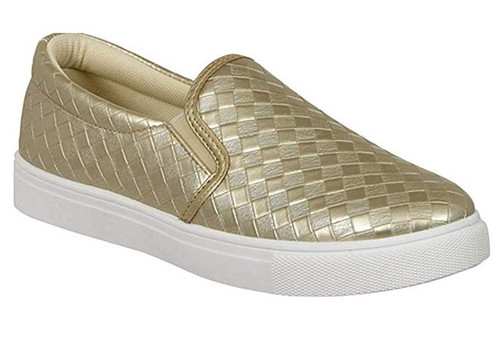 Sierra Traveler Slip On Sneaker - Gold