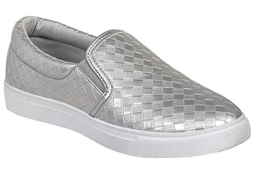 Sierra Traveler Slip On Sneaker - Silver