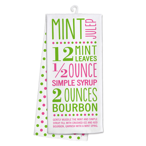 Derby Tea Towel - Mint Julep