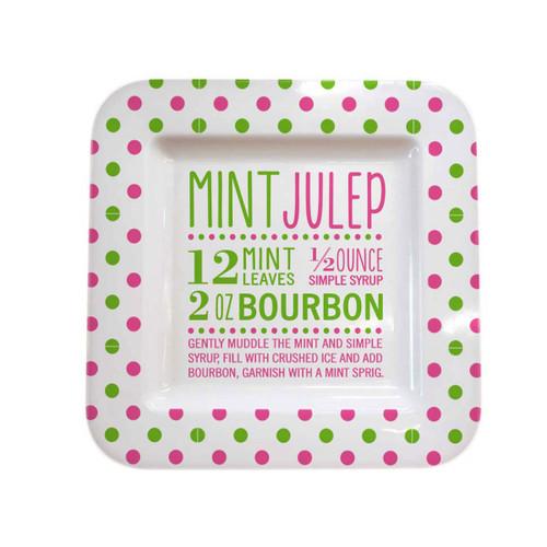 Square Melamine Platter - Mint Julep