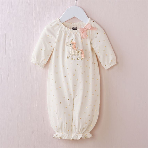 Unicorn Layette Gown
