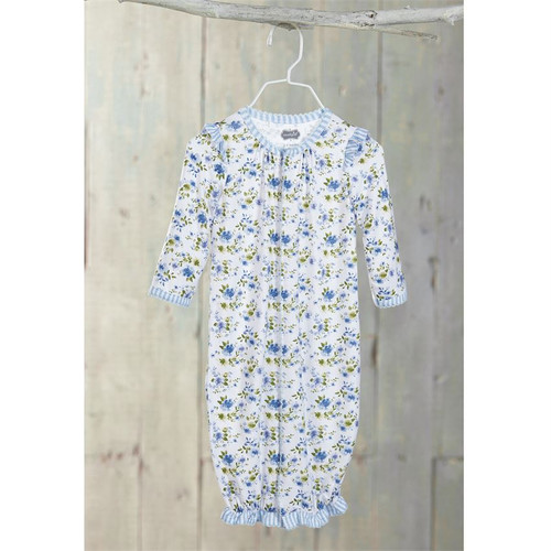 Blue Floral Convertible Gown