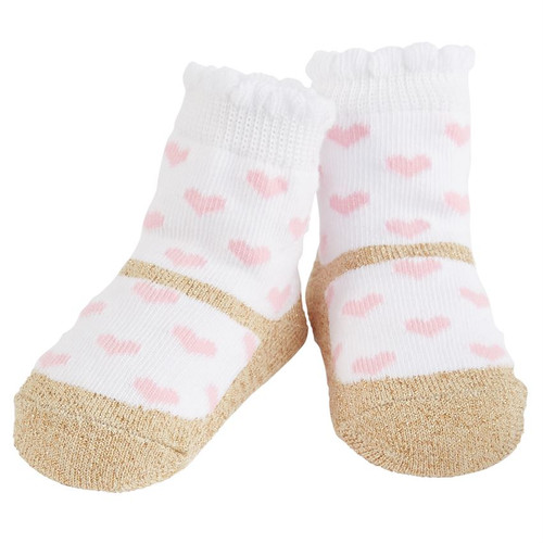 Girls Baby Socks - Pink Heart