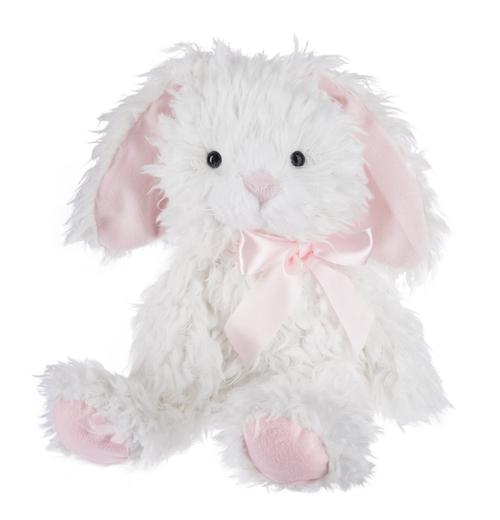 Plush Shaggy Bunny - White