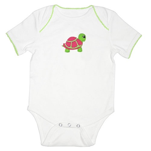 Applique Baby Onesie - Turtle