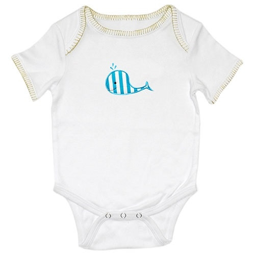 Applique Baby Onesie - Whale