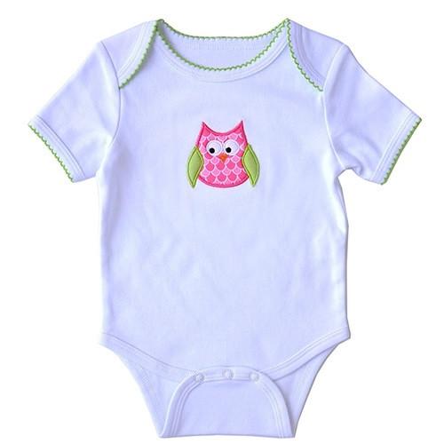 Applique Baby Onesie - Owl