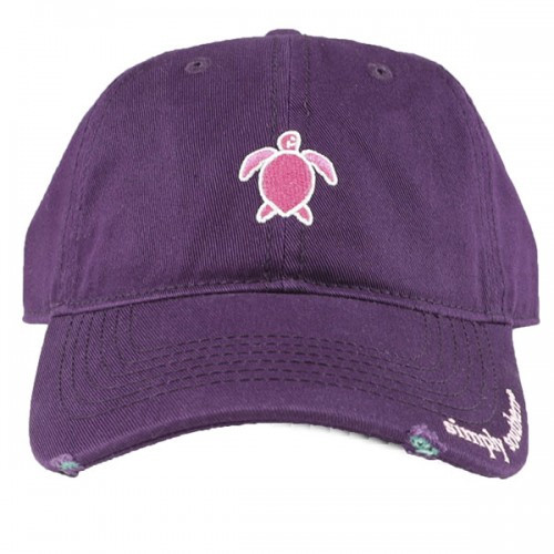 a19312569 Simply Southern Ballcap - Turtle Purple - Cordial Lee