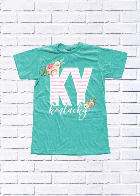 Kentucky Floral Stripes T-Shirt
