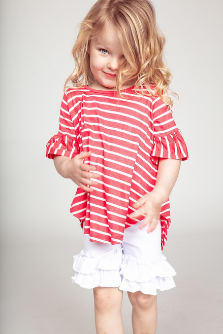 Millie Striped Top - Coral