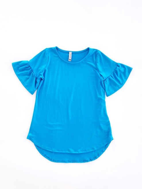Millie Solid Top - Turquoise