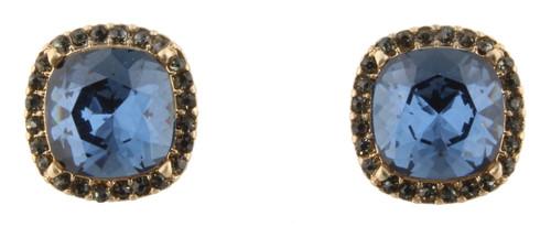 Montana Blue Rhinestone Stud Earrings