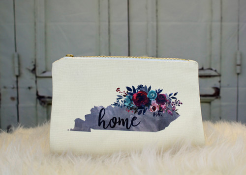Kentucky Floral State Cosmetic Bag