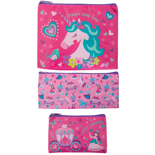 Recycled Accessory Bag Set - Unicorn