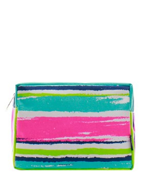 Canvas Cosmetic Bag - Paint Stripes