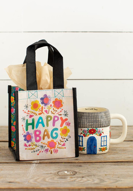 Small Recycled Gift Bag - Multi-Colored Floral