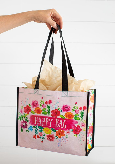 Large Recycled Gift Bag - Pink Floral