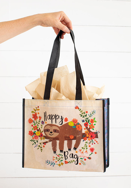 Large Recycled Gift Bag - Sloth Floral