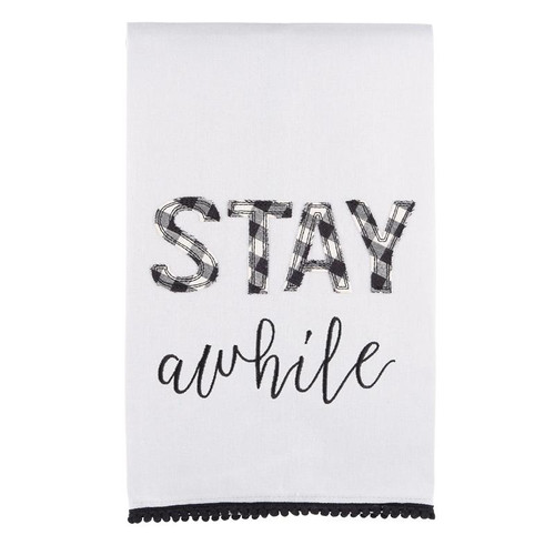 Stay Awhile Tea Towel