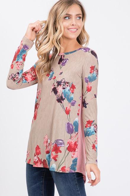 Avalyn Floral Print Top