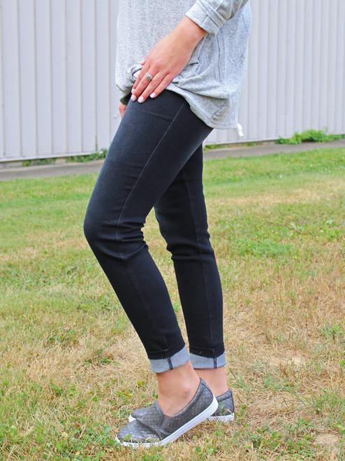 Simply Southern Denim Leggings - Black