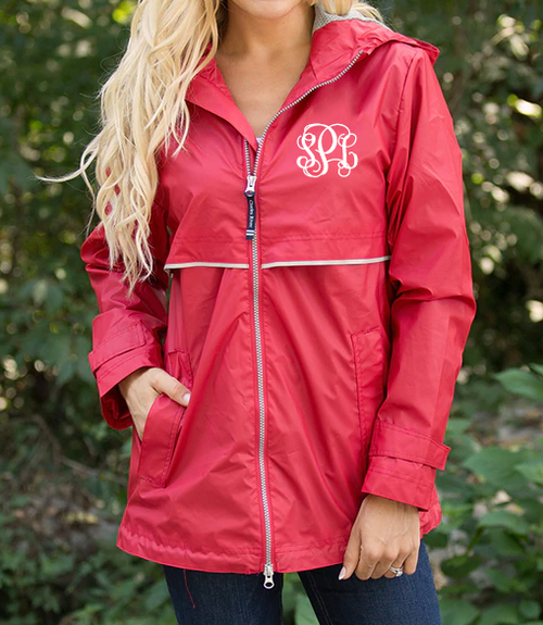 Charles River Rain Jacket - Red