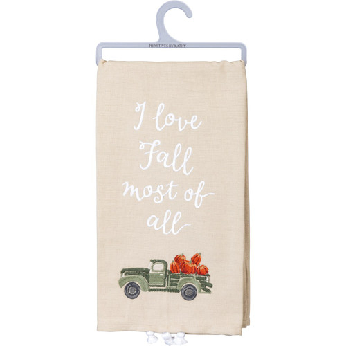 I Love Fall Most Of All Dish Towel