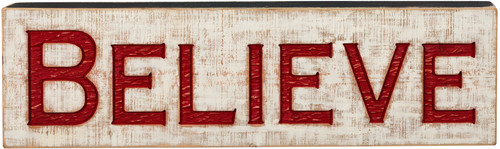 Jumbo Carved Sign - Believe