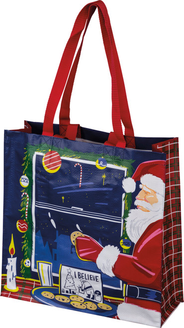 Large Recycled Shopper Tote - I Believe