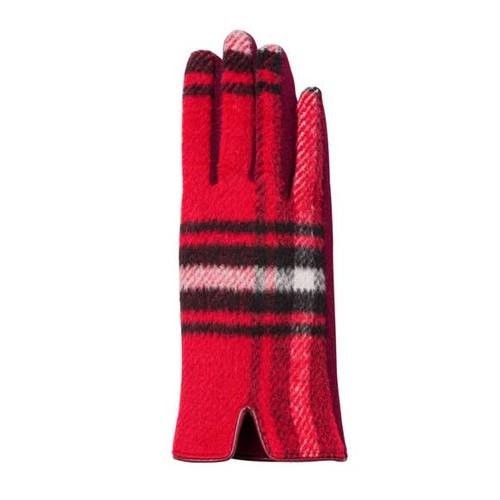 Harper Gloves - Red & Black Plaid