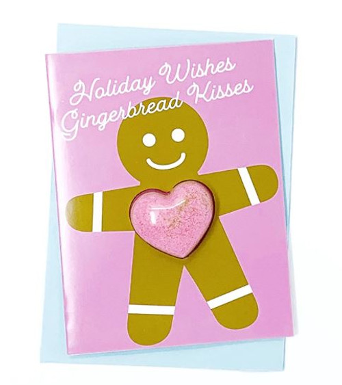 Holiday Wishes Gingerbread Kisses Bath Card