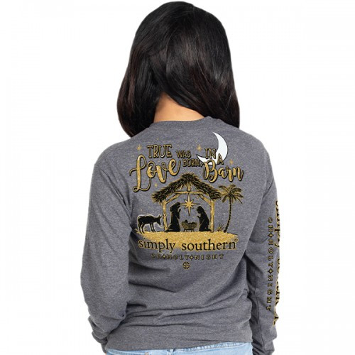 Simply Southern LS Tee - Holy Night