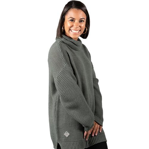 Simply Southern Turtleneck Sweater - Dark Grey
