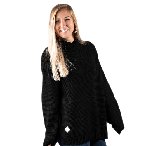 Simply Southern Turtleneck Sweater - Black