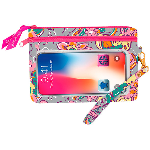Simply Southern Phone Wristlet - Grey Floral