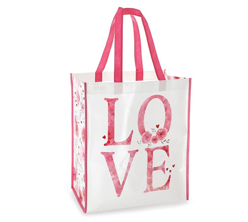 Large Recycled Shopper Tote - Love