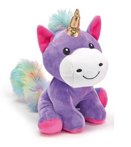 Plush Unicorn with Gold Horn - Purple