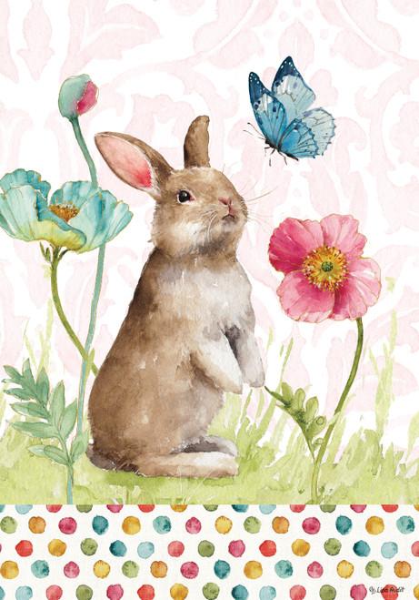 Bunny & Flowers Printed Garden Flag