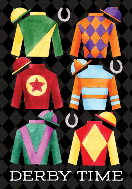 Derby Time Jockey Silks Garden Flag