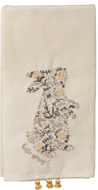 Floral Bunny Dish Towel